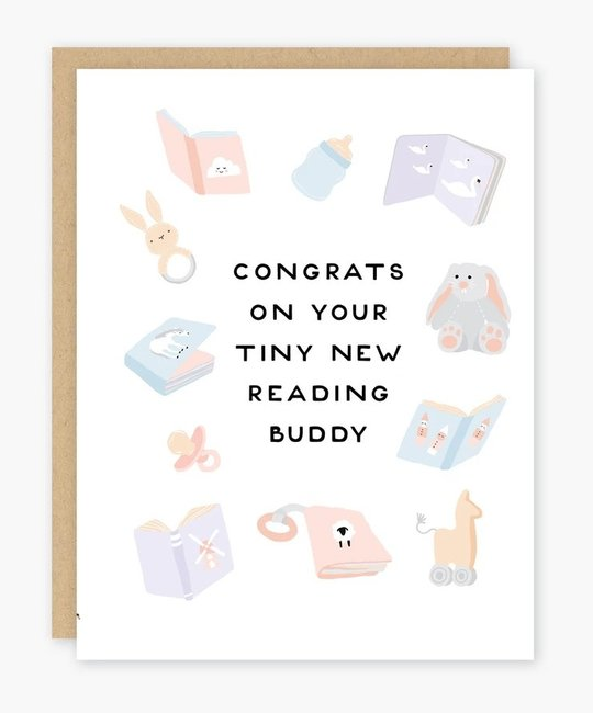 Party of One - POO Tiny New Reading Buddy New BabyCard
