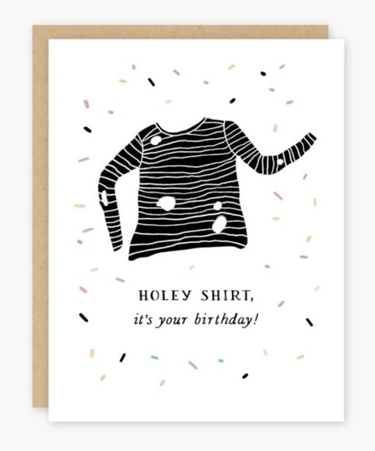 Party of One - POO Holey Shirt Birthday Card