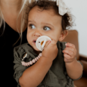 Pretty Please Teethers - PRPT Nate Petite Pacifier + Teether Clip