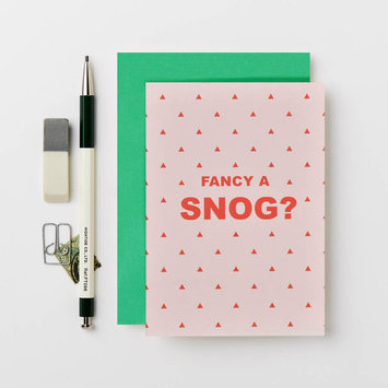Katie Leamon Fancy A Snog? card