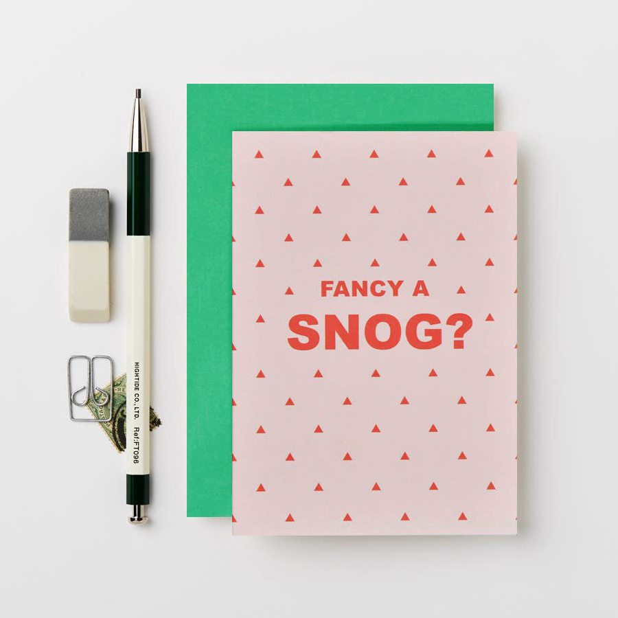 Katie Leamon Fancy A Snog? card