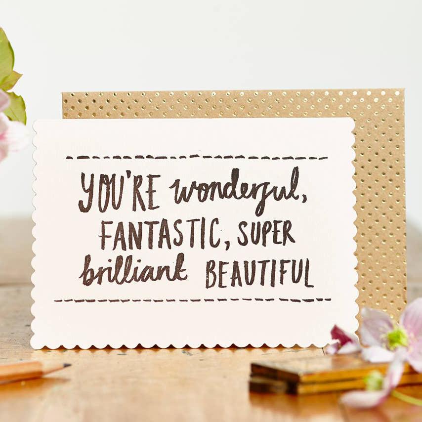 Katie Leamon Wonderful, Fantastic, Super Brilliant, Beautiful