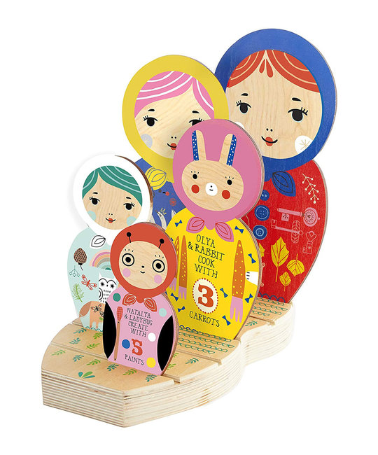 Chronicle Books - CB Masha and Her Friends Wooden Nesting Doll Puzzle