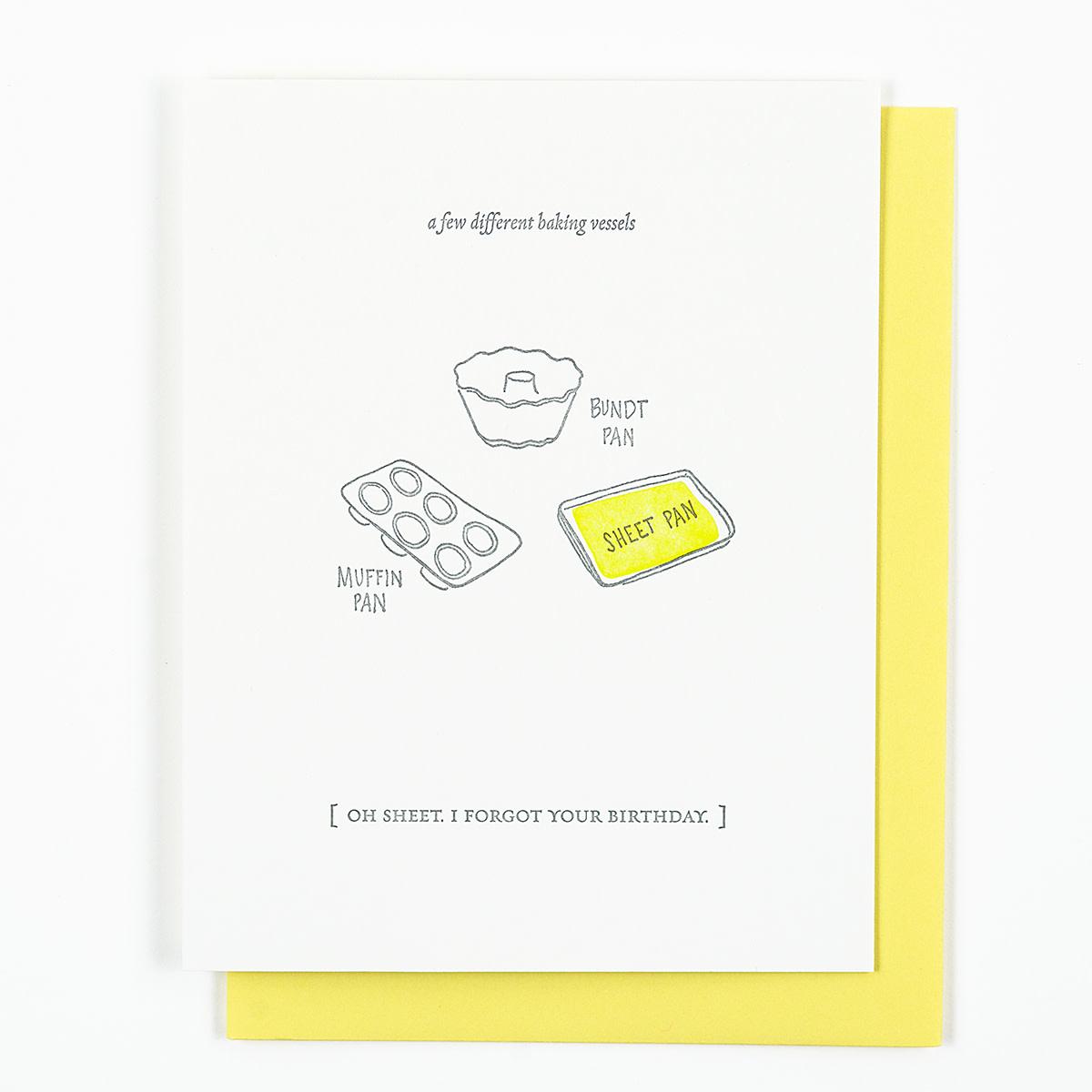 Nourishing Notes NNGCBI0003 - Baking Sheet Birthday