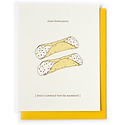 Nourishing Notes NNGCWE0001 - Holy Cannoli Wedding Card