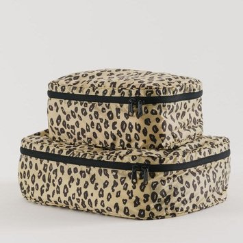 Baggu - BA BAGGU  Storage Cube, Set of 2, Honey Leopard