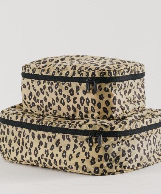 Baggu - BA BAGGU Storage Cube, Set of 2, Honey Leopard