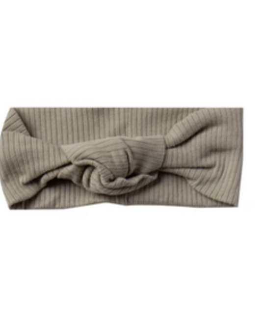 Quincy Mae - QM Quincy Mae Ribbed Turban in Olive