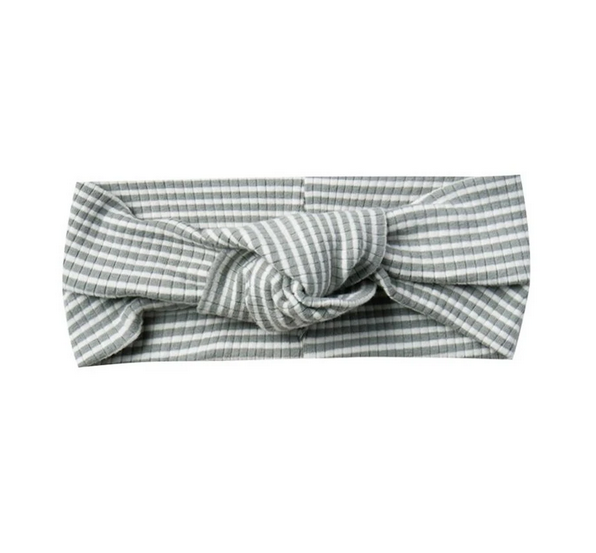 Quincy Mae - QM Quincy Mae Ribbed Turban in Eucalyptus Stripe