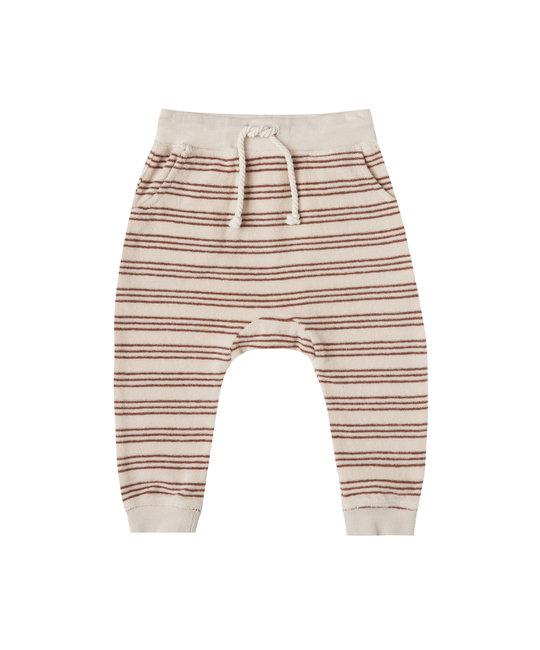 Rylee + Cru - RC Rylee + Cru Striped Sweatpant in Shell