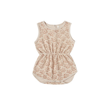 Rylee + Cru - RC Rylee + Cru Flower outline Cinch Playsuit in Shell