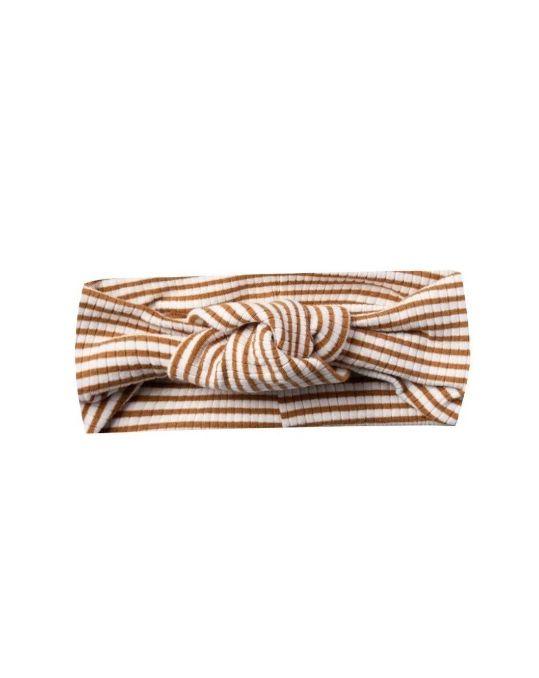 Quincy Mae - QM QM BA - Ribbed Turban in Walnut Stripe