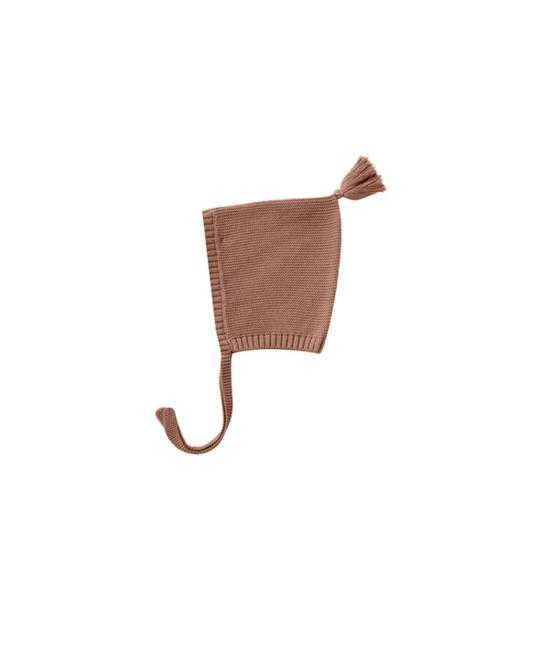 Quincy Mae - QM QM BA - Knit Pixie Bonnet in Clay
