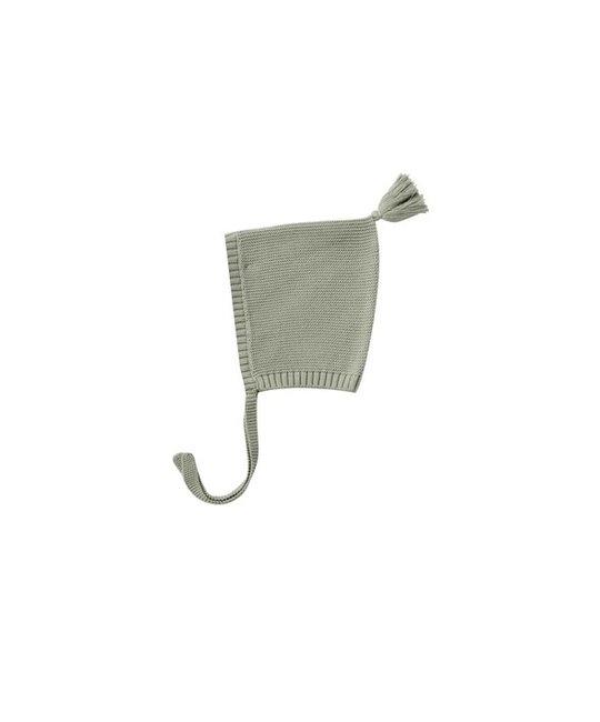 Quincy Mae - QM QM BA - Knit Pixie Bonnet in Sage