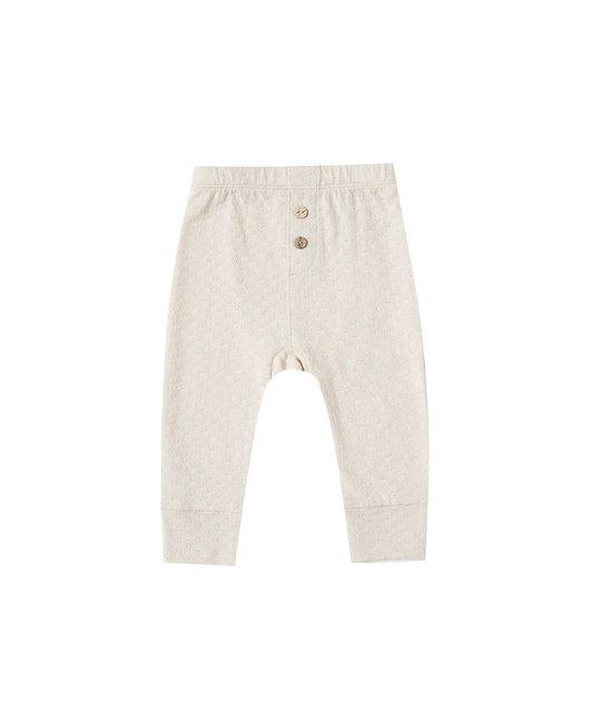 Quincy Mae - QM QM BA - Pointelle Pajama Pant in Pebble