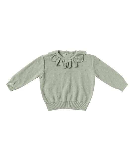 Quincy Mae - QM QM BA - Petal Knit Sweater in Sage
