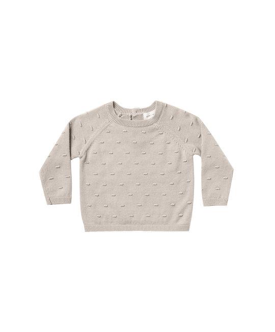 Quincy Mae - QM QM BA - Bailey Knit Sweater in Fog