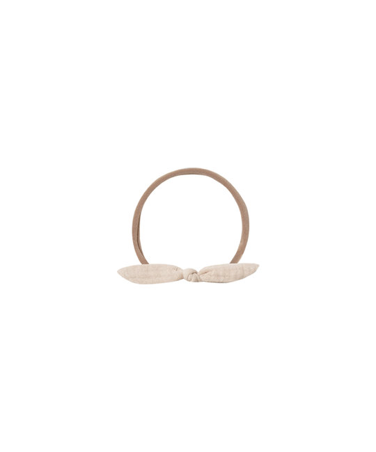 Quincy Mae - QM QM BA - Little Knot Headband in Pebble