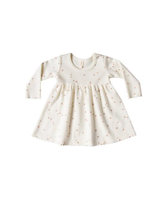 Quincy Mae - QM QM BA - Longsleeve Baby Dress in Ivory