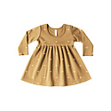 Quincy Mae - QM QM BA - Longsleeve Baby Dress in Honey