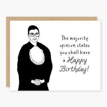 Party of One - POO RBG Birthday Card (Majority Opinion)
