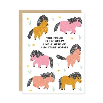 Party of One - POO Miniature Horses Love Card