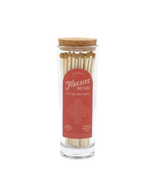Paddywax - PA Extra Long Matches with Gold Tip in Glass Container