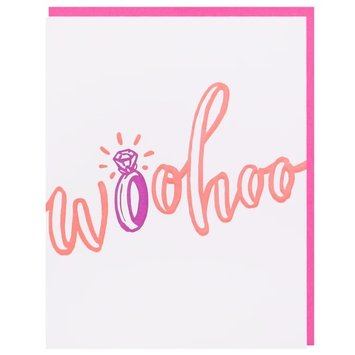 Smudge Ink - SI Woohoo Engagment Ring Card