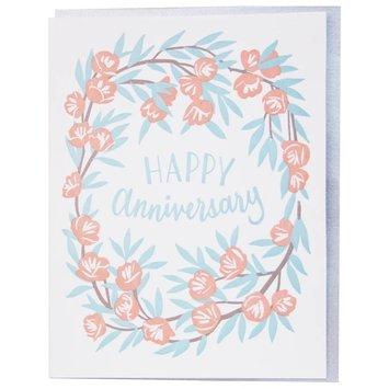 Smudge Ink - SI Peony Wreath Anniversary Card