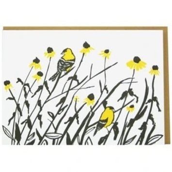 Smudge Ink - SI Goldfinches Blank Note Set of 10