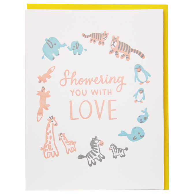Smudge Ink - SI SIGCBA0010 - Stuffed Animal Baby Shower Card