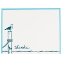Smudge Ink - SI SI NSTY - Seagull Thank You Note Set with Letterpress-printed Envelope