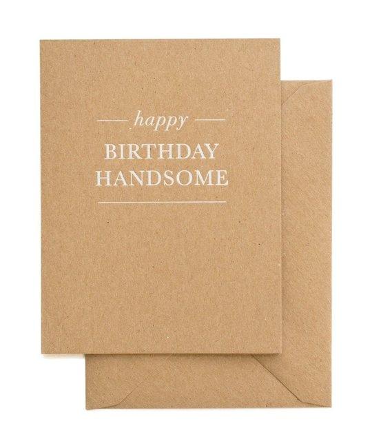 Sugar Paper - SUG Happy Birthday Handsome Card