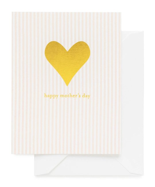 Sugar Paper - SUG Mother's Day Gold Heart Card