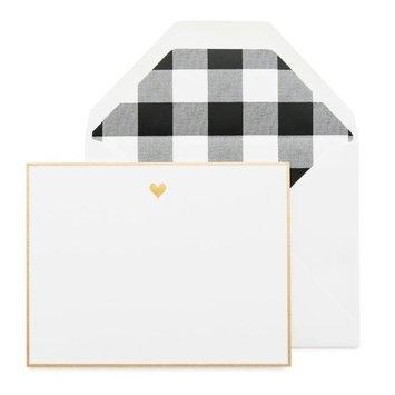Sugar Paper - SUG Black Gold Heart Notes, Set of 6