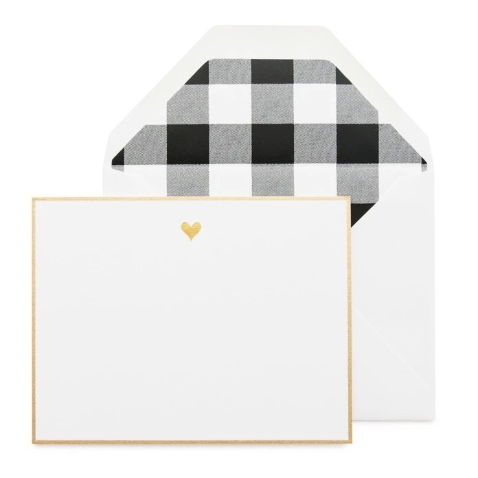Sugar Paper - SUG Black Gold Heart Notes, Set of 6
