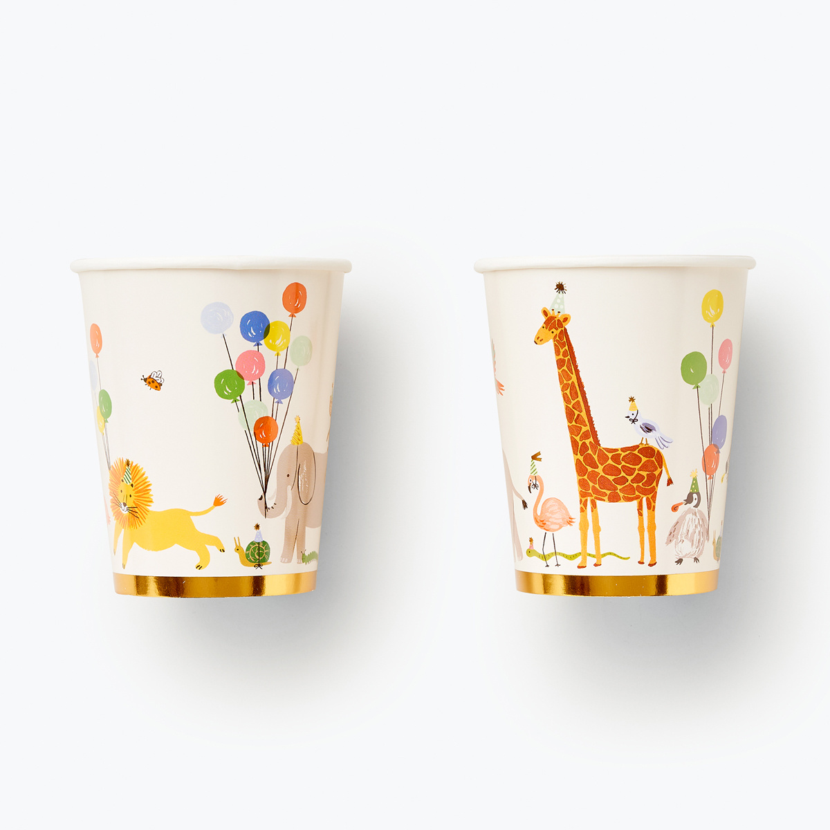 Rifle Paper Co - RP Rifle Paper Co - Party Animals Cups, set of 12