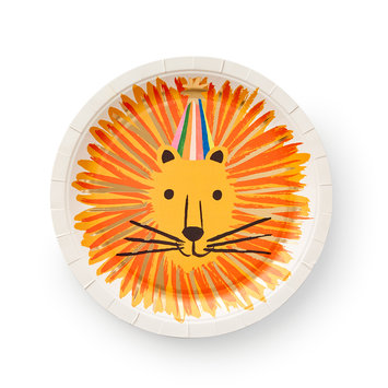 Rifle Paper Co - RP Rifle Paper Co - Party Animals Large Plates, set of 10