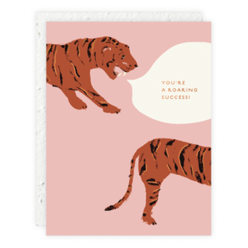 Seedlings - SED Tiger (Roaring Success) Congratulations Card