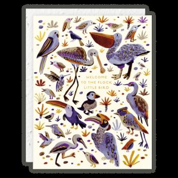 Seedlings - SED Little Bird Welcome Baby Card
