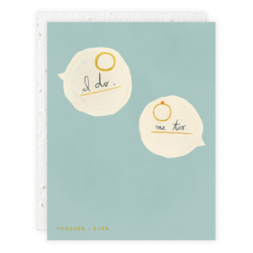 Seedlings - SED I Do Rings Wedding Card