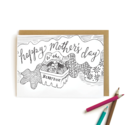 Wild Ink Press - WI Berry Best Mom Kids Coloring Card