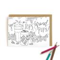 Wild Ink Press - WI Soda Grandpa Kids Coloring Card