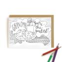 Wild Ink Press - WI Grandma Cookies Kids Coloring Card