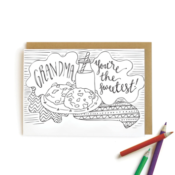 Wild Ink Press - WI Grandma Cookies Kids Coloring Card