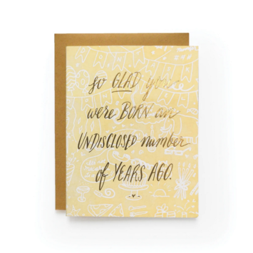 Wild Ink Press - WI Born Undisclosed Birthday Card
