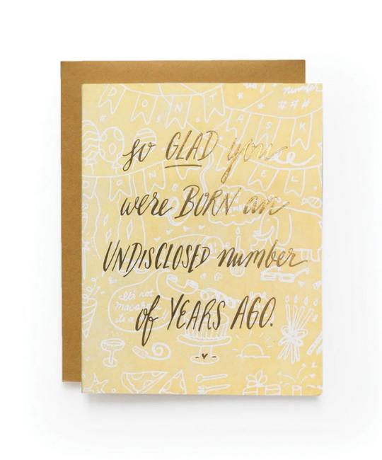 Wild Ink Press - WI Born Undisclosed Birthday Card