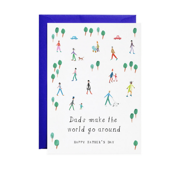 Mr. Boddington's Studio - MB Dads Make the World Go Round Card