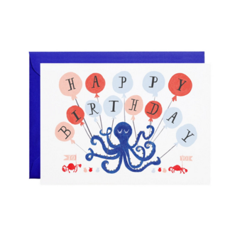 Mr. Boddington's Studio - MB Eight Balloons Birthday Card