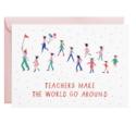 Mr. Boddington's Studio - MB Teachers Make the World Go Round Card